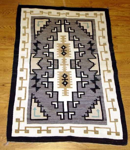 Mexican Rug History: Two Grey Hills With Blue