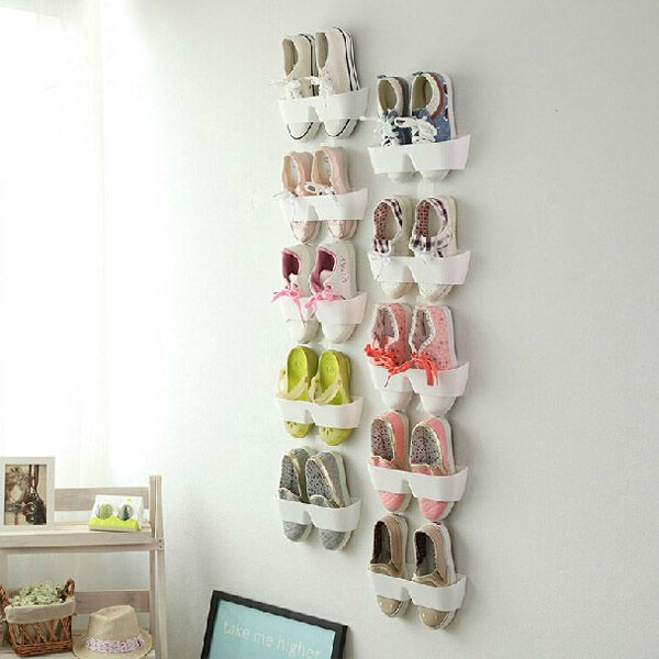 Creative Hanging Shoe Rack Wall Hang Save Space Shoes Holder Hanging Shoe Rack Wall Hanging Storage Shoe Storage