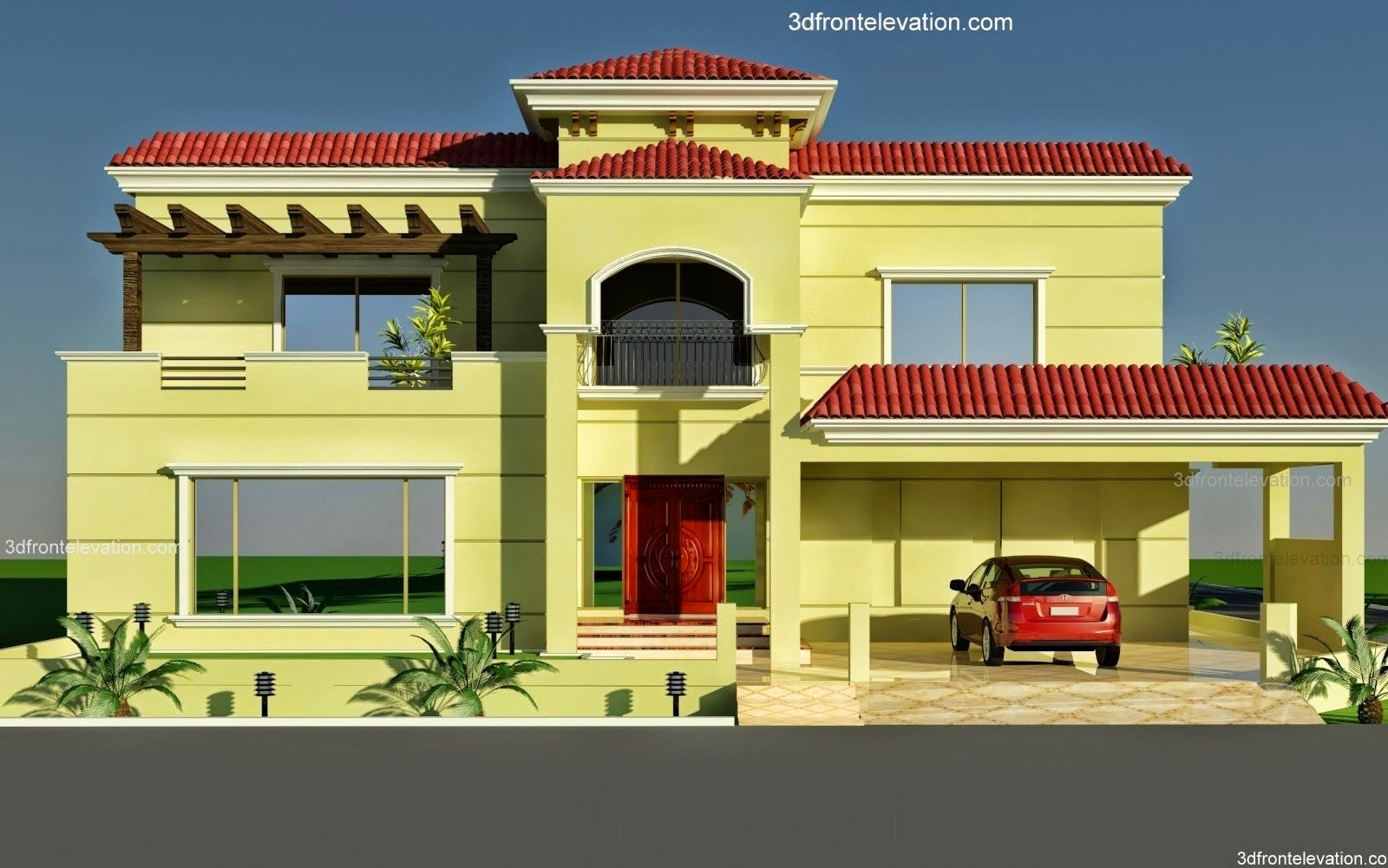 Front Elevation In Lahore : D front elevation  wapda town kanal