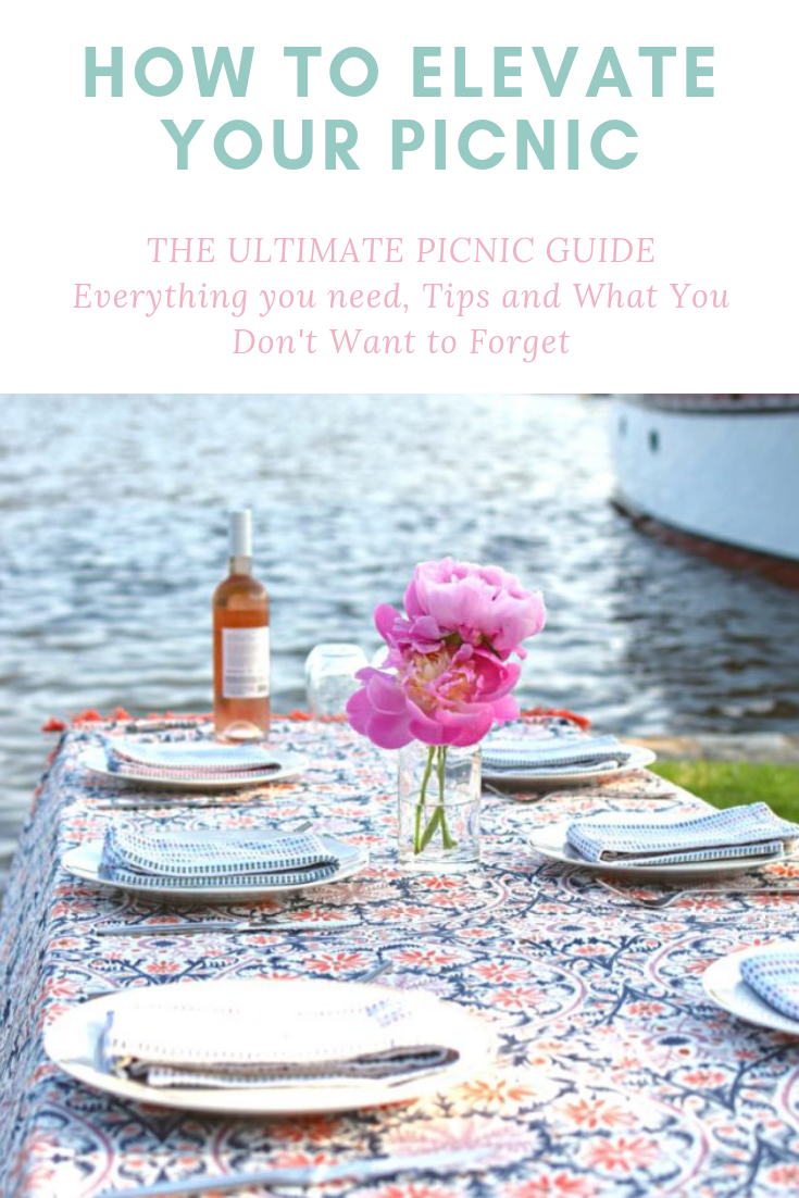 How to Elevate your Picnic #familypicnicfoods This ultimate picnic guide has tips from a casual to an elevated picnic. Filled with picnic food ideas, picnic essentials, tips, and what not to forget. Whether you hosting a family picnic or a romantic picnic date this guide is everything you need to know about how to throw a picnic for any occasion like a picnic beach concert to a picnic birthday party. #familypicnicfoods