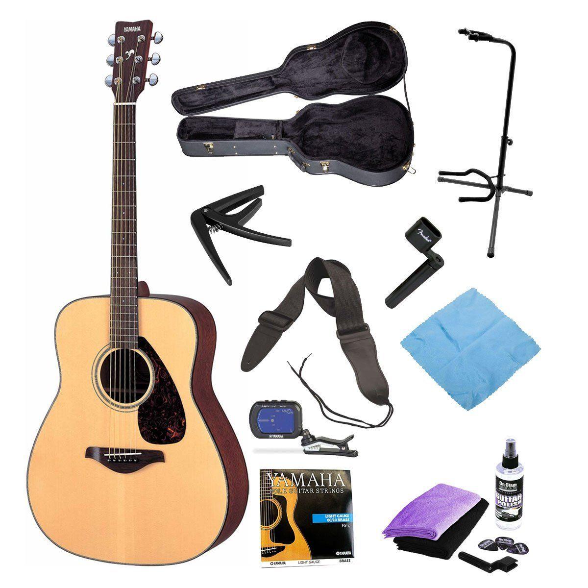 Yamaha Guitars Yamaha Fg700s Entry Level Acoustic Guitar With Yamaha Hardshell Vinyl Guitar Case Onstage Yamaha Guitar Yamaha Acoustic Guitar Guitar Tuners