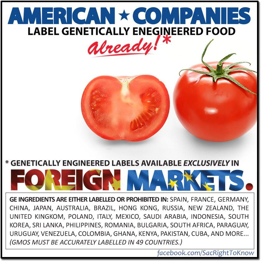 Did You Know American Companies Label Gmo Foods For Export So