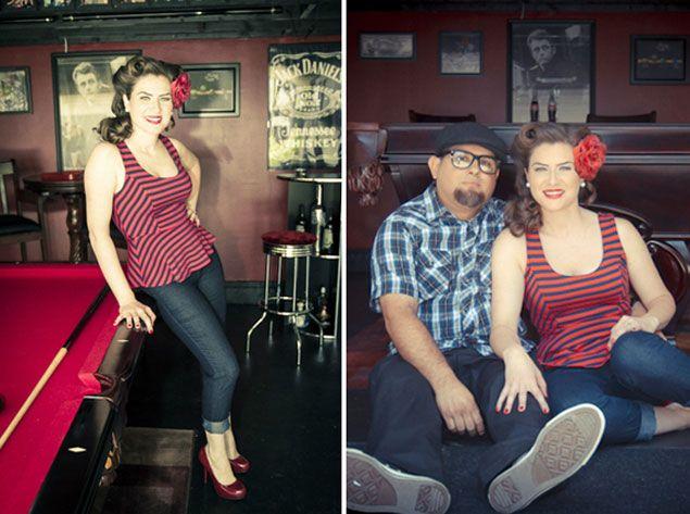 Jessica & Raul's Retro #Engagement Shoot - Photo Credit:  Jamie Davis Photography