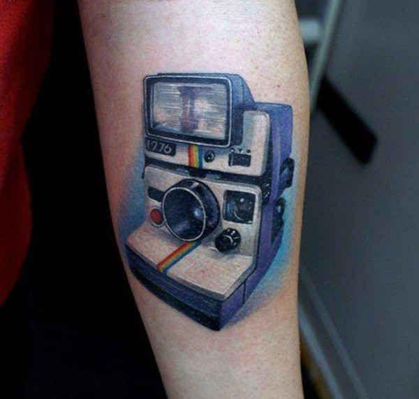 Polaroid Camera Camera Tattoos Camera Tattoo Tech Tattoo