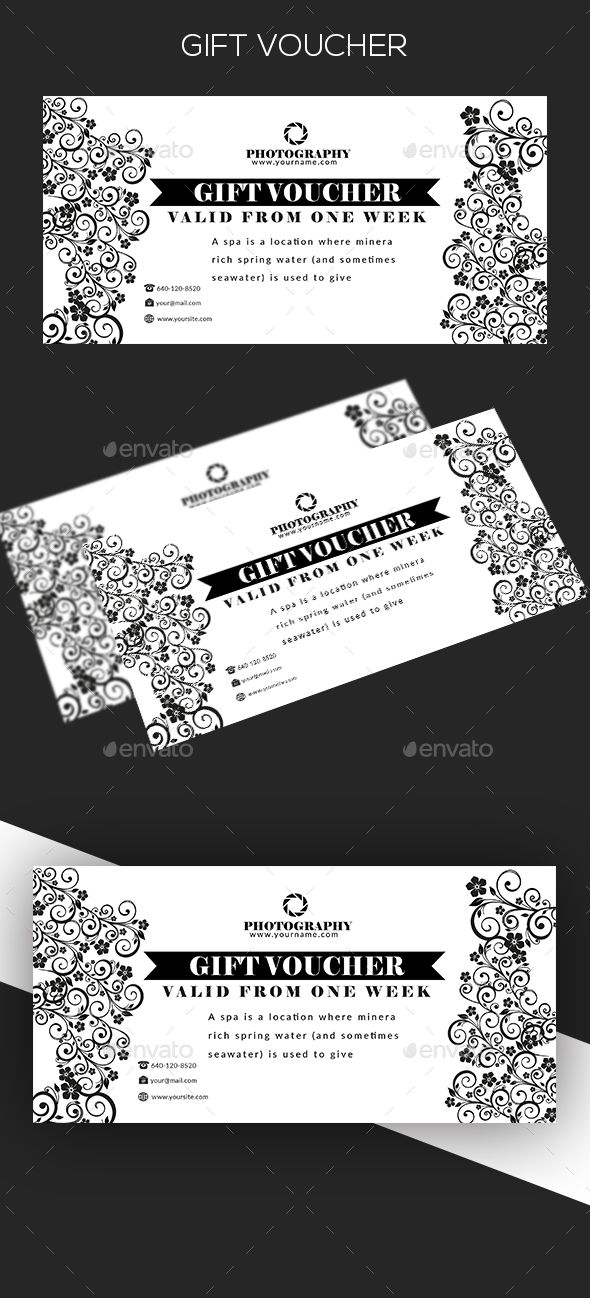 Gift Voucher   Template, Print templates and Font logo