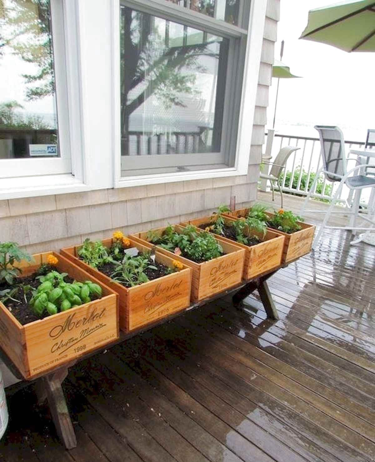 46 Inspiring Herb Garden Design Ideas And Remodel is part of Deck garden, Diy herb garden, Backyard garden, Herbs indoors, Herb garden, Patio garden - For you lovers of greenness, an herbal garden is an interesting concept to make on your own home page  You can choose what plants you will plant for Herb Garden [ … ]