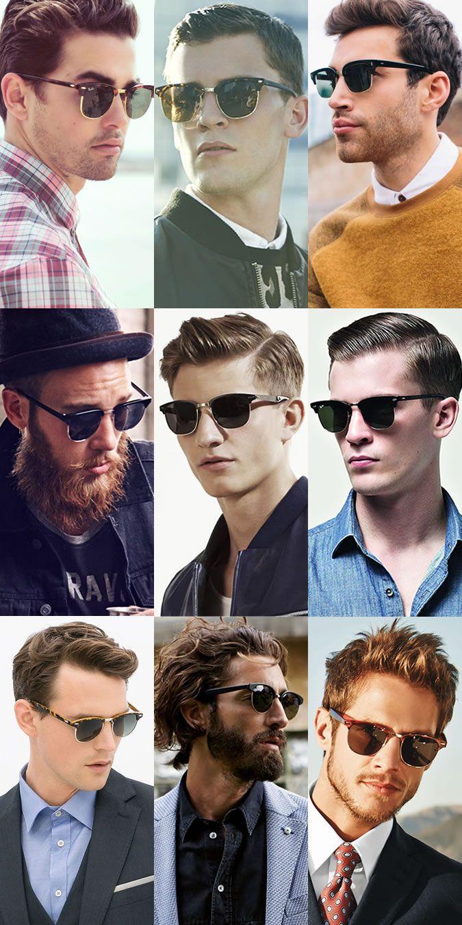 men's clubmasters sunglasses lookbook | menfashion | pinterest