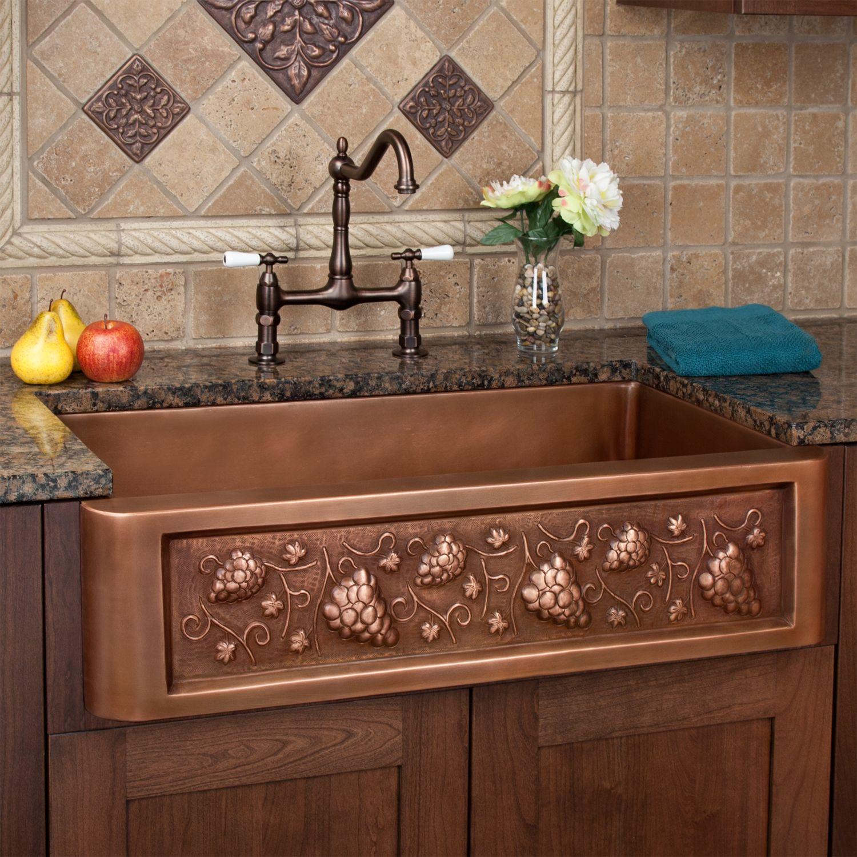 Tuscan Kitchen Sink Sinks 30 Tuscan Series Copper Farmhouse Sink