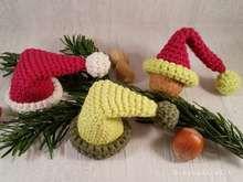 Häkelanleitung - kleine Weihnachtsmütze