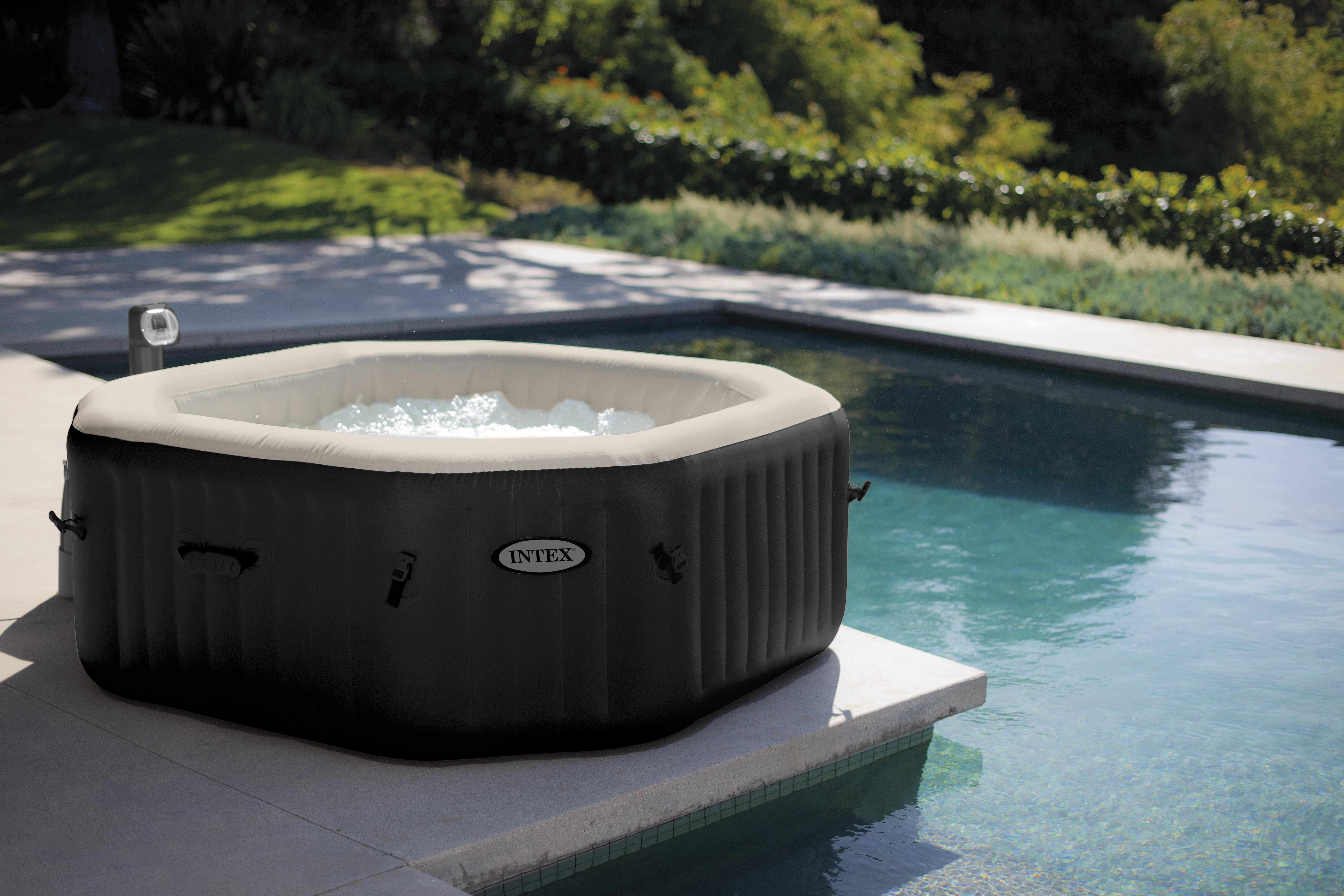 Jacuzzi Pool Deluxe Intex 28456 Bubble Jet Deluxe Inflatable Hot Tub Spa Full
