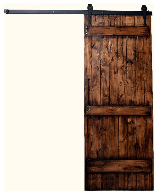 Ranch Barn Door Kit 7 Ft H X 3 Ft W Stain Clear Coat Glaze