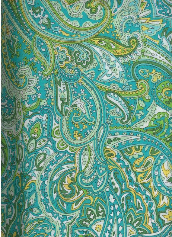 Green Paisley Fabric 100% cotton