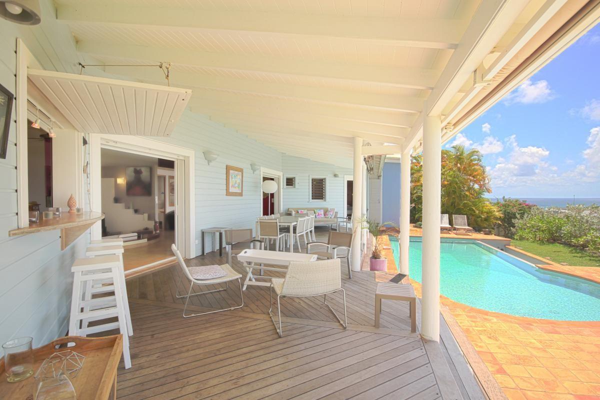 Location villa avec vue mer et piscine au gosier en - Location maison avec piscine couverte ...
