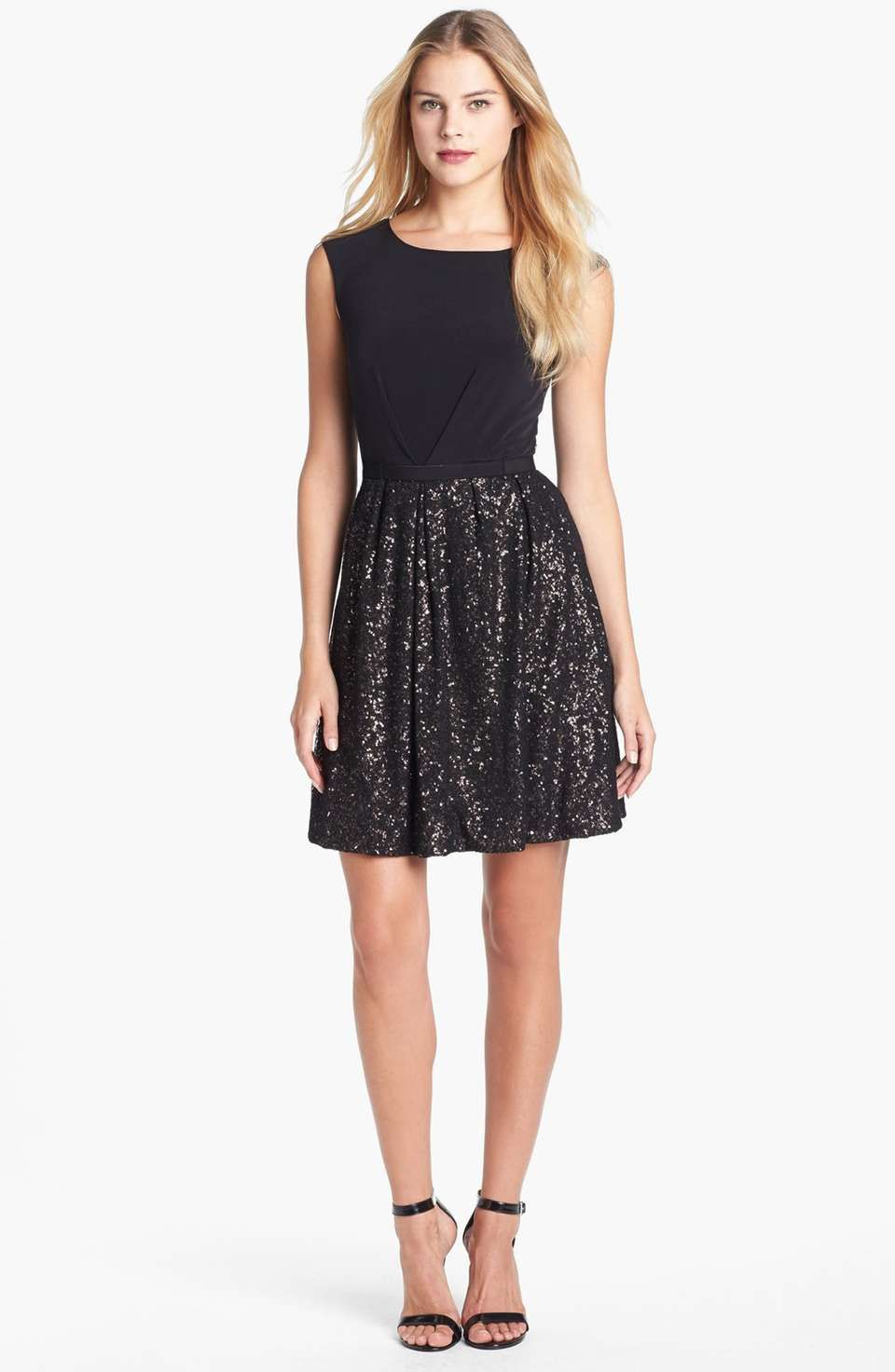 Laundry by Shelli Segal Embellished Jersey Fit & Flare Dress