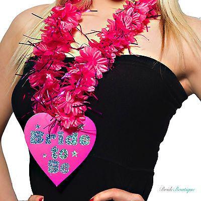 Hot Pink Hen Party Flower Lei