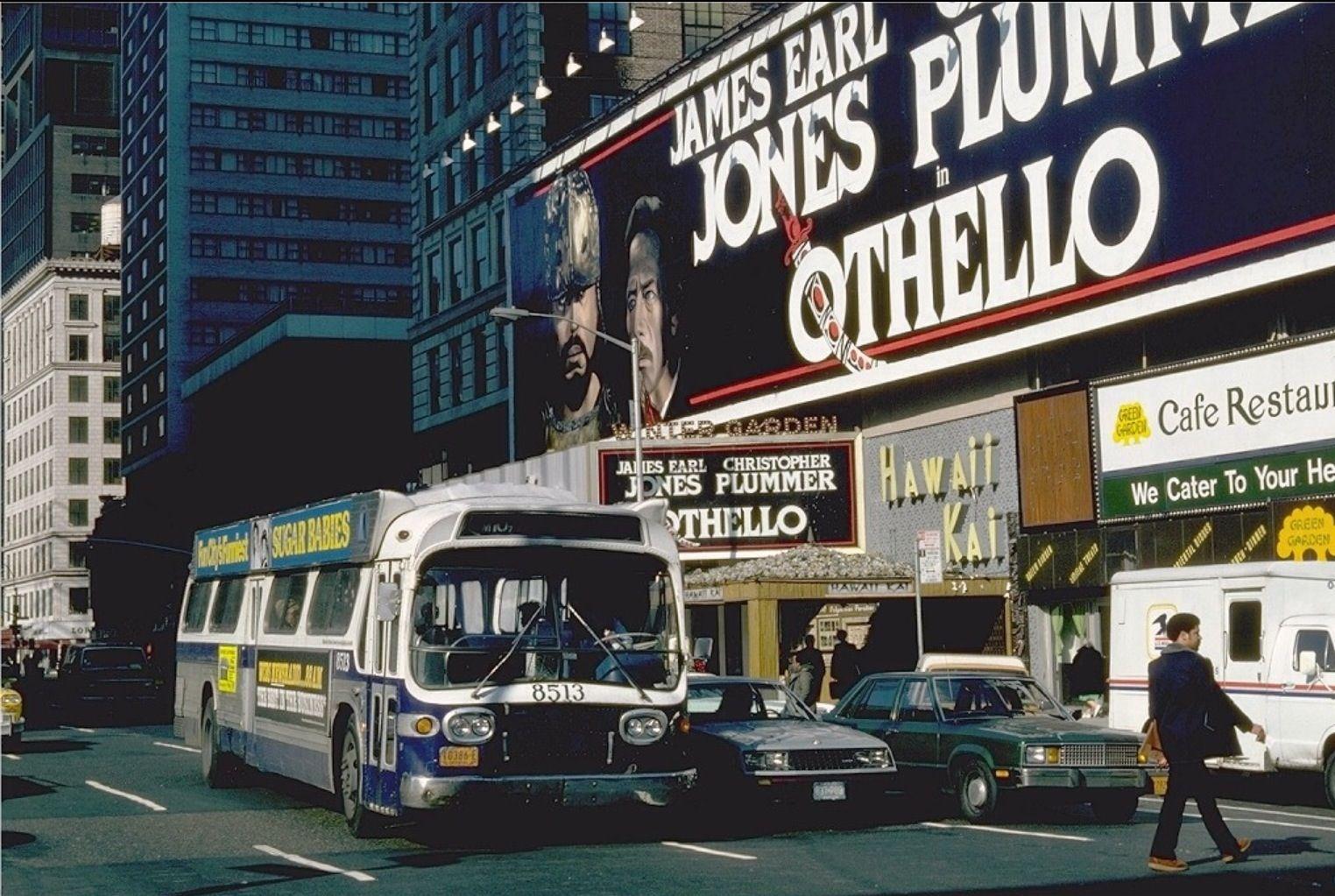 Broadway Marquee Othello Winter Garden Theatre New Bus