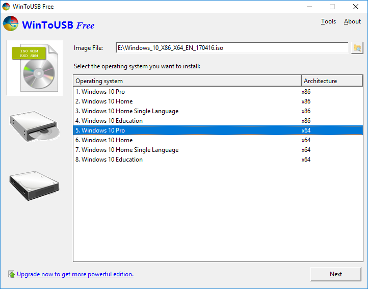 Wintousb 3 7 Wintousb Also Called Windows To Usb Is The Best Free Windows To Go Creator Which Allows You To Install An Windows To Go Windows 10 Network Tools