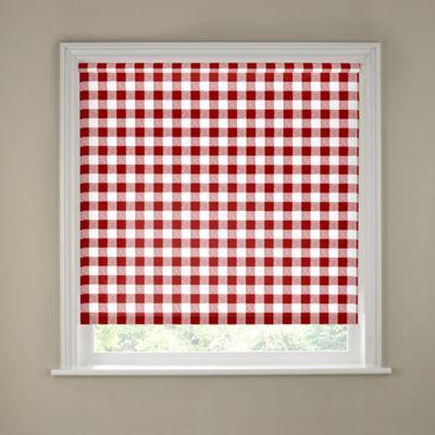 Buy 4ft Red Gingham Kitchen Roller Blind At Argos Co Uk Visit Argos Red Blindsroller Blindsstandard Window