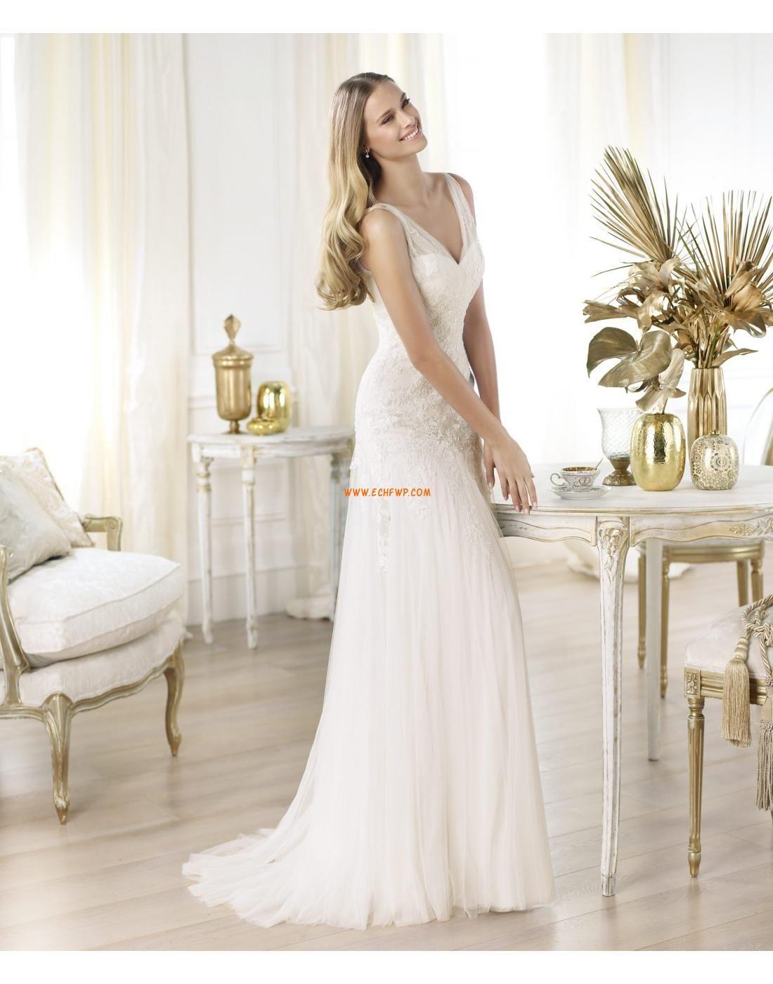 Halle V-Ausschnitt Glamourös & Dramatisch Brautkleider 2014