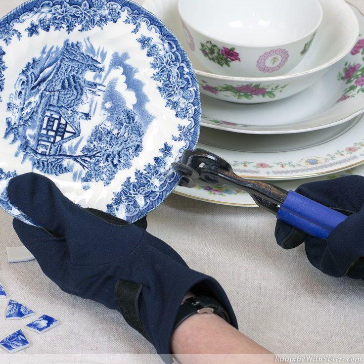 Mosaic Pots Trio How To Make Broken China Mosaics
