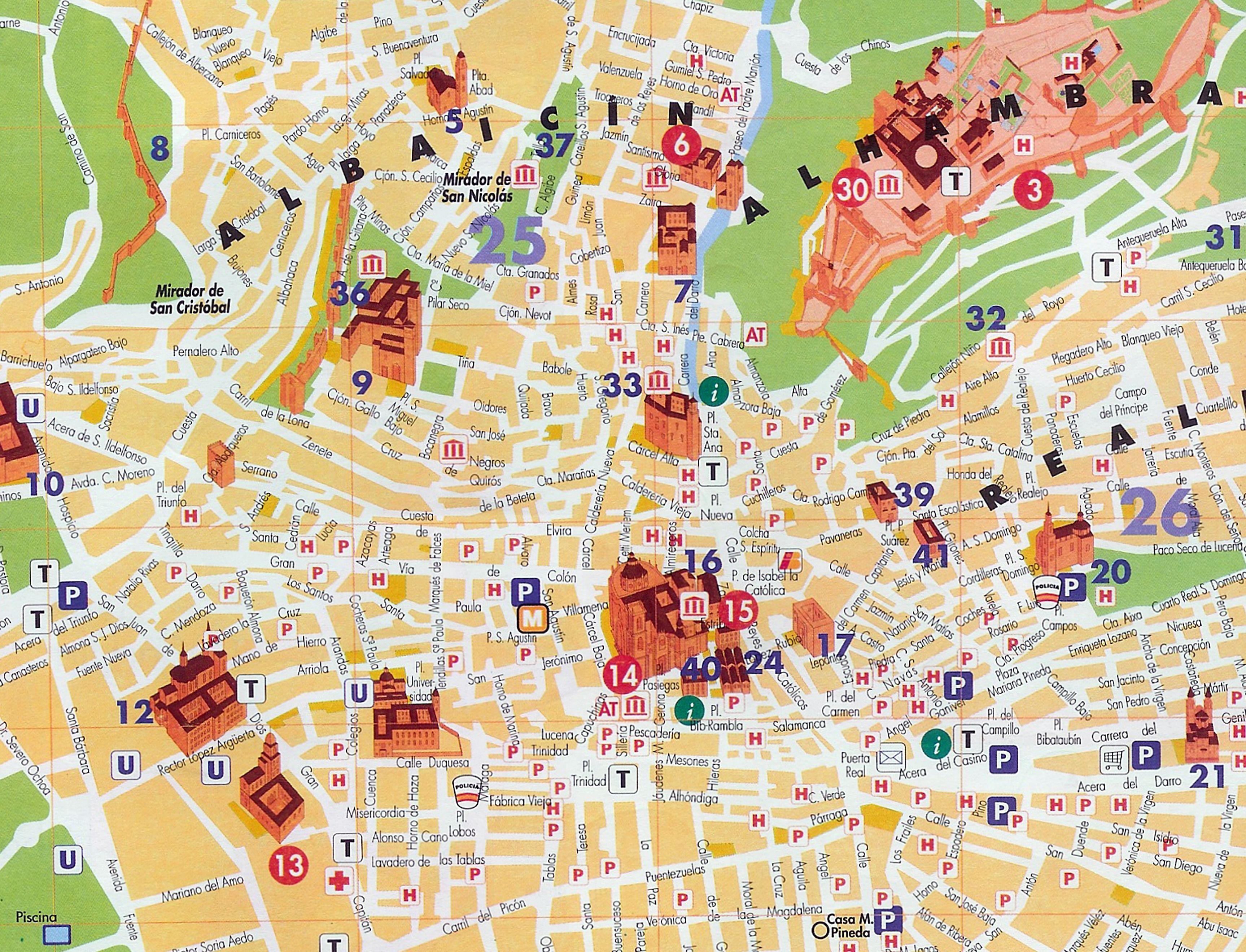 Mapa Granada Granada Pinterest Granada