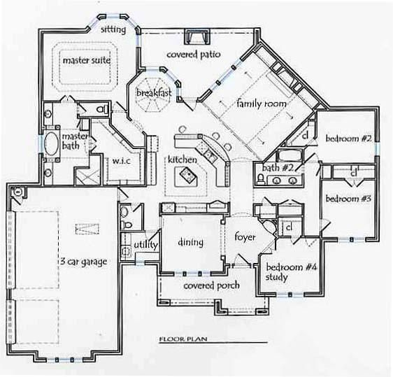 Texas House Plans 2690 Sq Ft Lovely One Story Layout 3