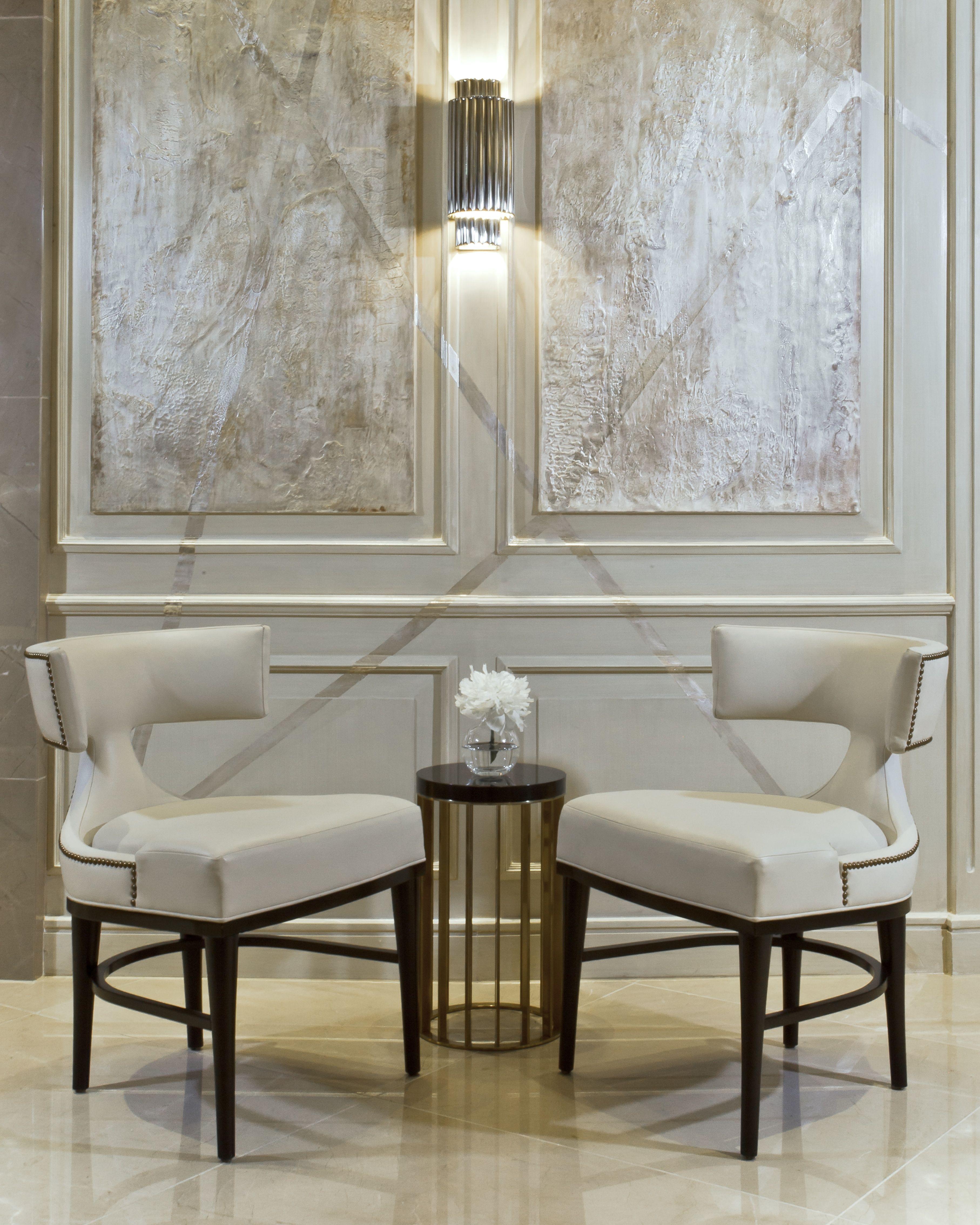 Oscar Dining Chairs By Reagan Hayes In The Sheraton Park Tower Lobby Knightsbridge London Design By Anita Rosato Furniture Design Interior Interior Design