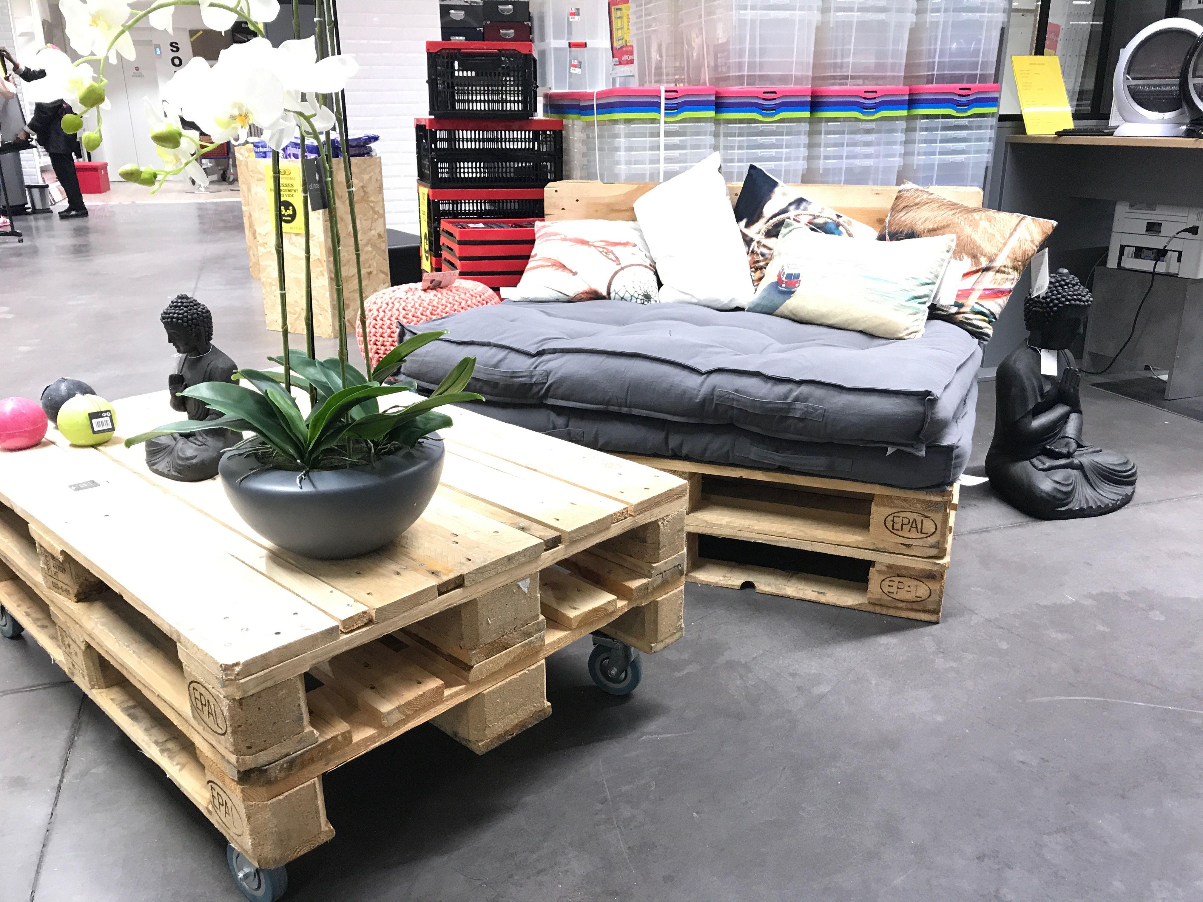 Salon De Jardin En Palettes Idees Diy Coussins Pour Palette