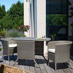 Salon de jardin encastrable 2 places en résine tressée ...