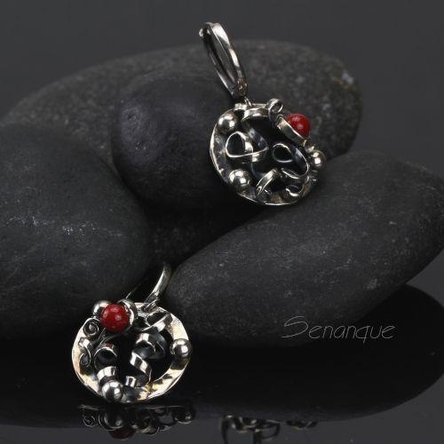Two to Tango - srebrne kolczyki z koralem / Senanque / Biżuteria / Kolczyki
