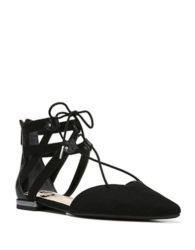 dfb57907f738d5 Circus By Sam Edelman Haven Micro Suede Point-Toe Lace-Up Flats Women
