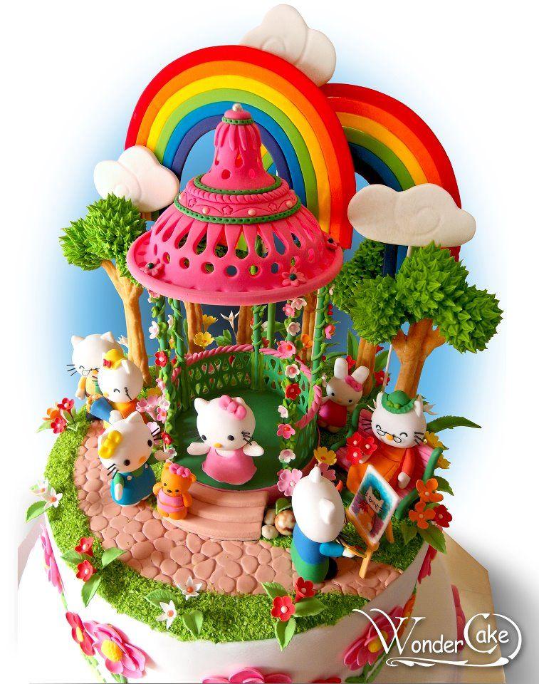 Happy 8th Birthday Kiara Birthday Cakes Pinterest Hello Kitty