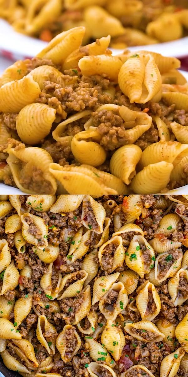 The BEST Taco Pasta [video] - Sweet and Savory Mea