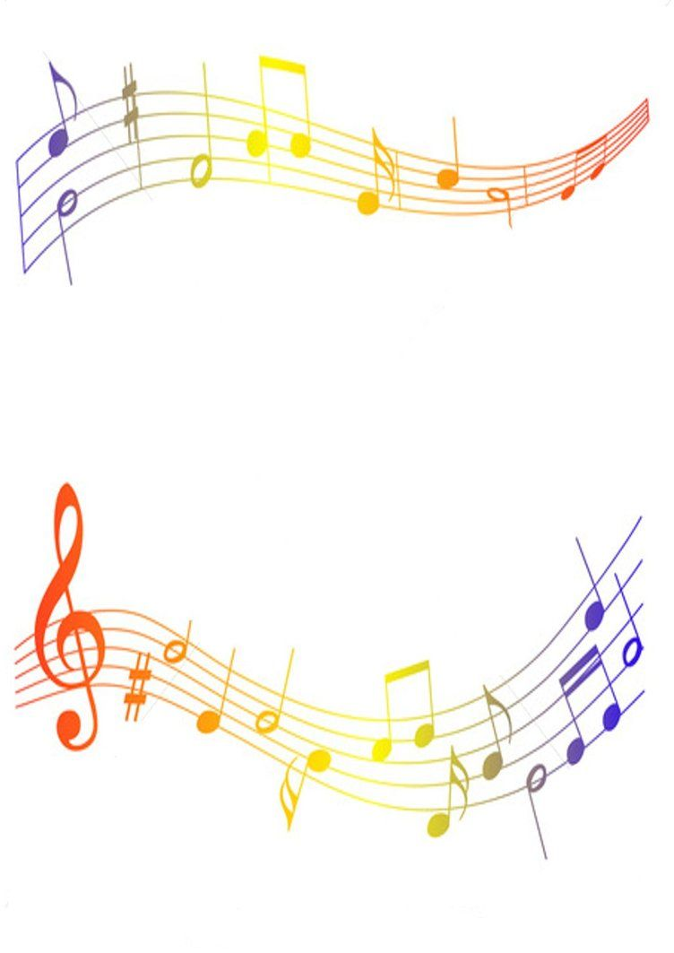 coloured musical notes border by kirstylouisewilson