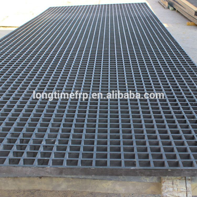 1220 3660mm Panel Size 25mm Thickness With Mesh 38x38mm Plastic Frp Grating Deck Flooring Plastic Sheets Flooring