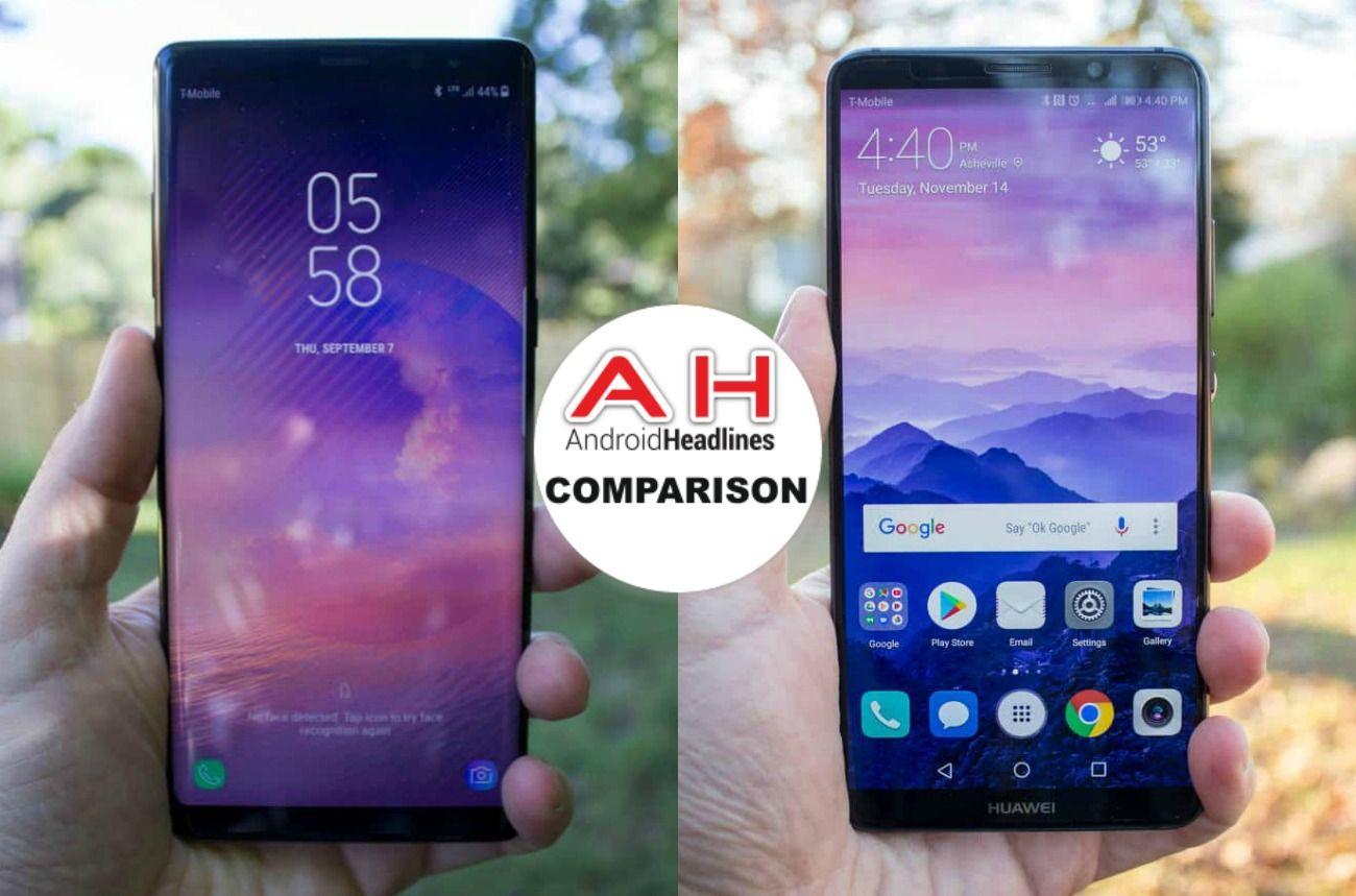 Phone Comparisons: Samsung Galaxy Note 8 vs Huawei Mate 10 Pro