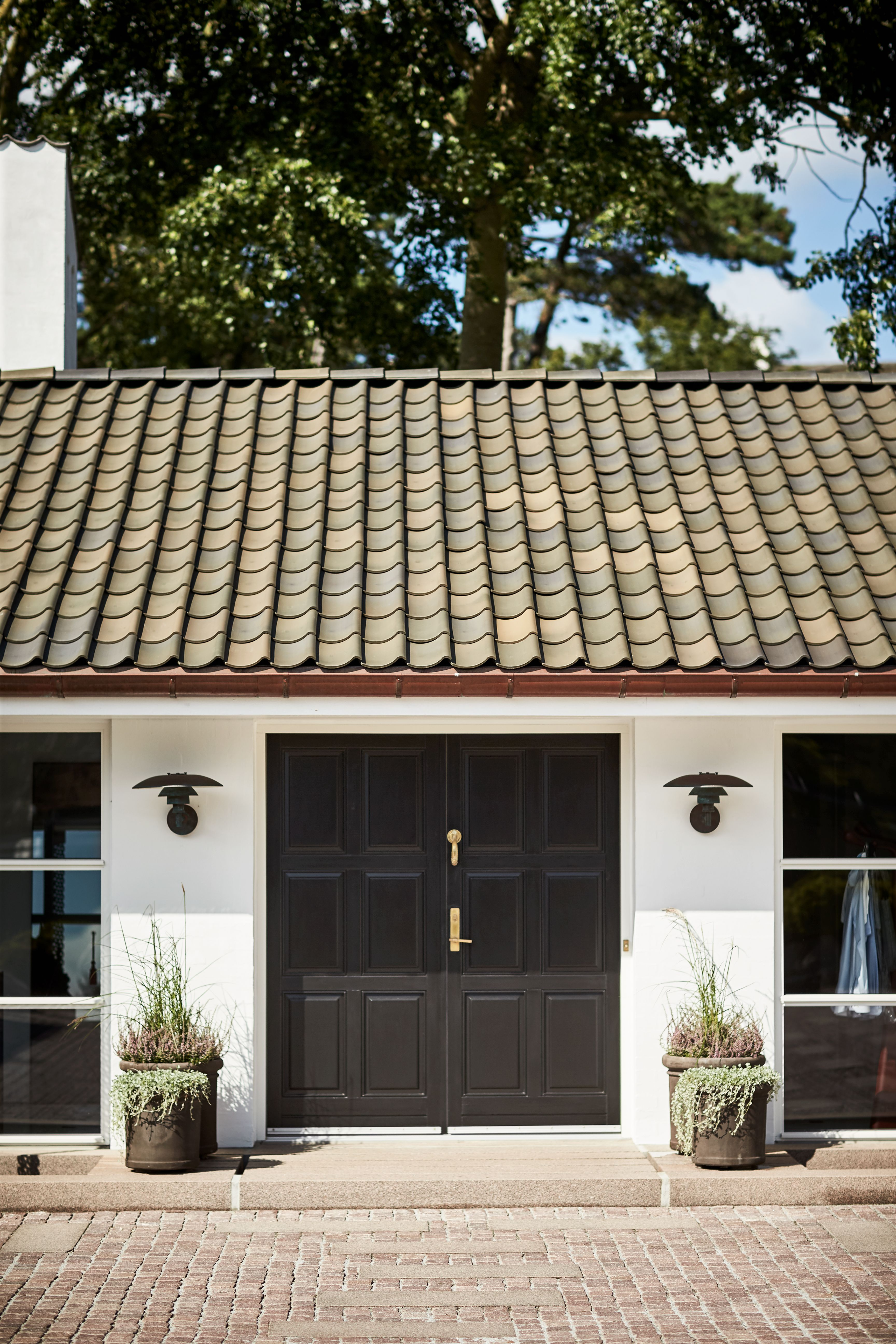 Rt 820 Hojslev Small Danish Size Blue Softened Nuanced Pantile Mediterranean Homes Exterior House Exterior Exterior Tiles