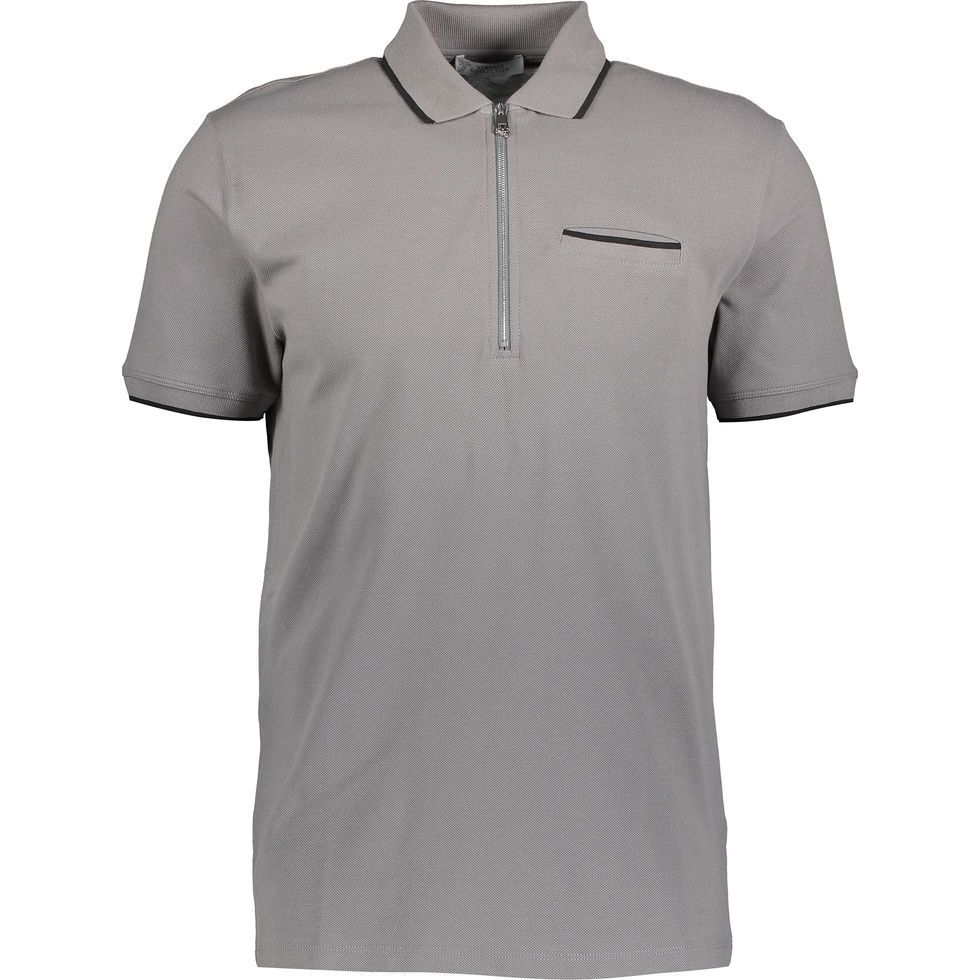Shirt Grey Shirts Tamp; Zipped Polo Pique uZPikX