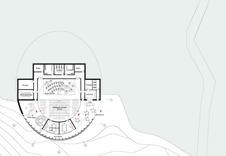 Galeria de MOA divulga projeto de anfiteatro topográfico na Tunísia - 18