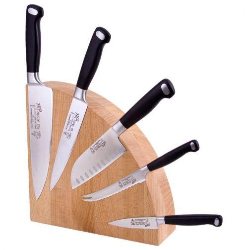 Beechwood Magnet Knife Block.