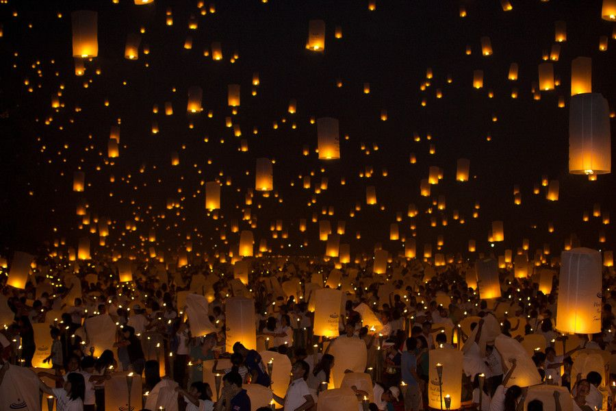 500px photo kongming lanterns that lights up for peace