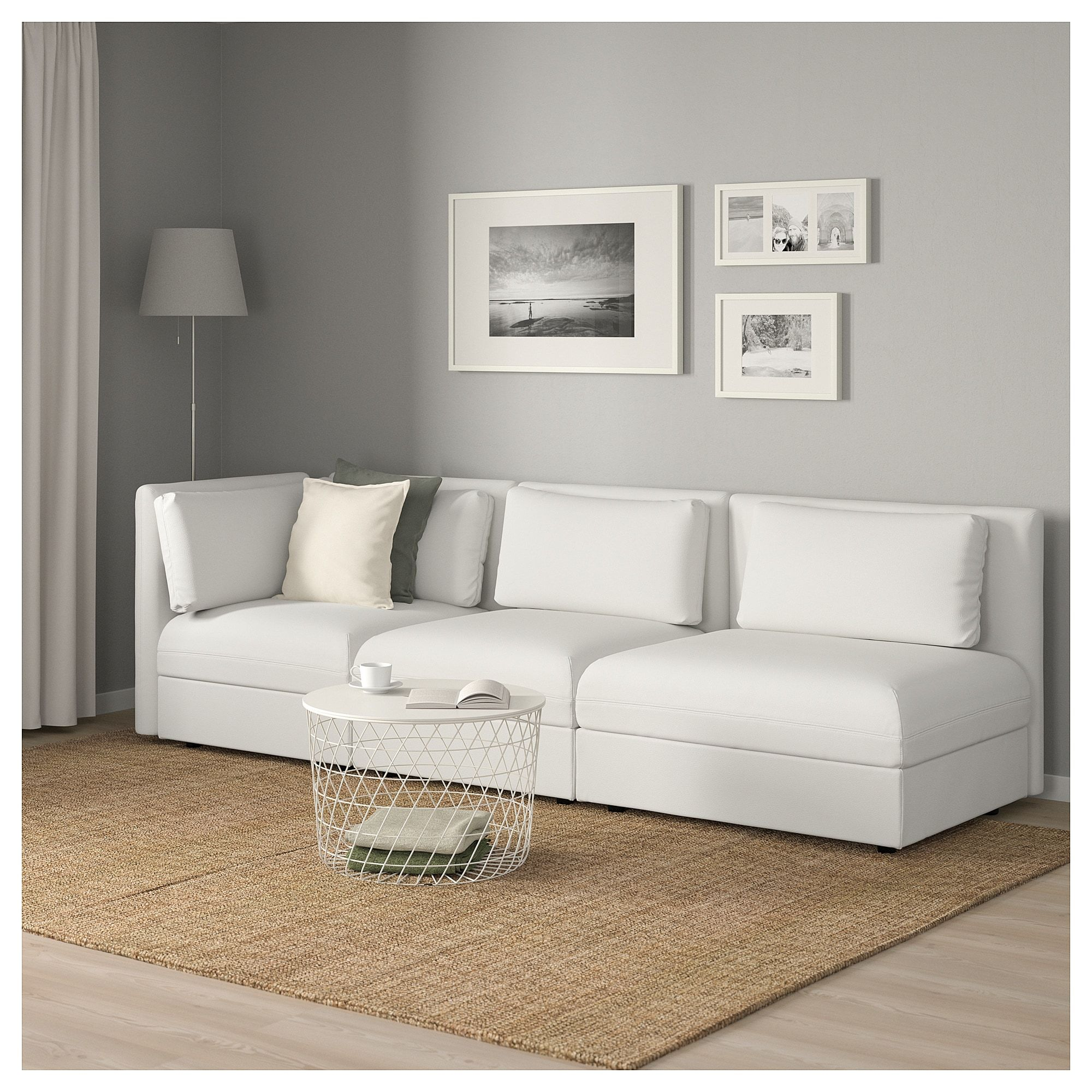 Vallentuna 4 Seat Modular Sofa With 3 Beds Sectional 3 Seat Vallentuna With Open End And Storage Murum