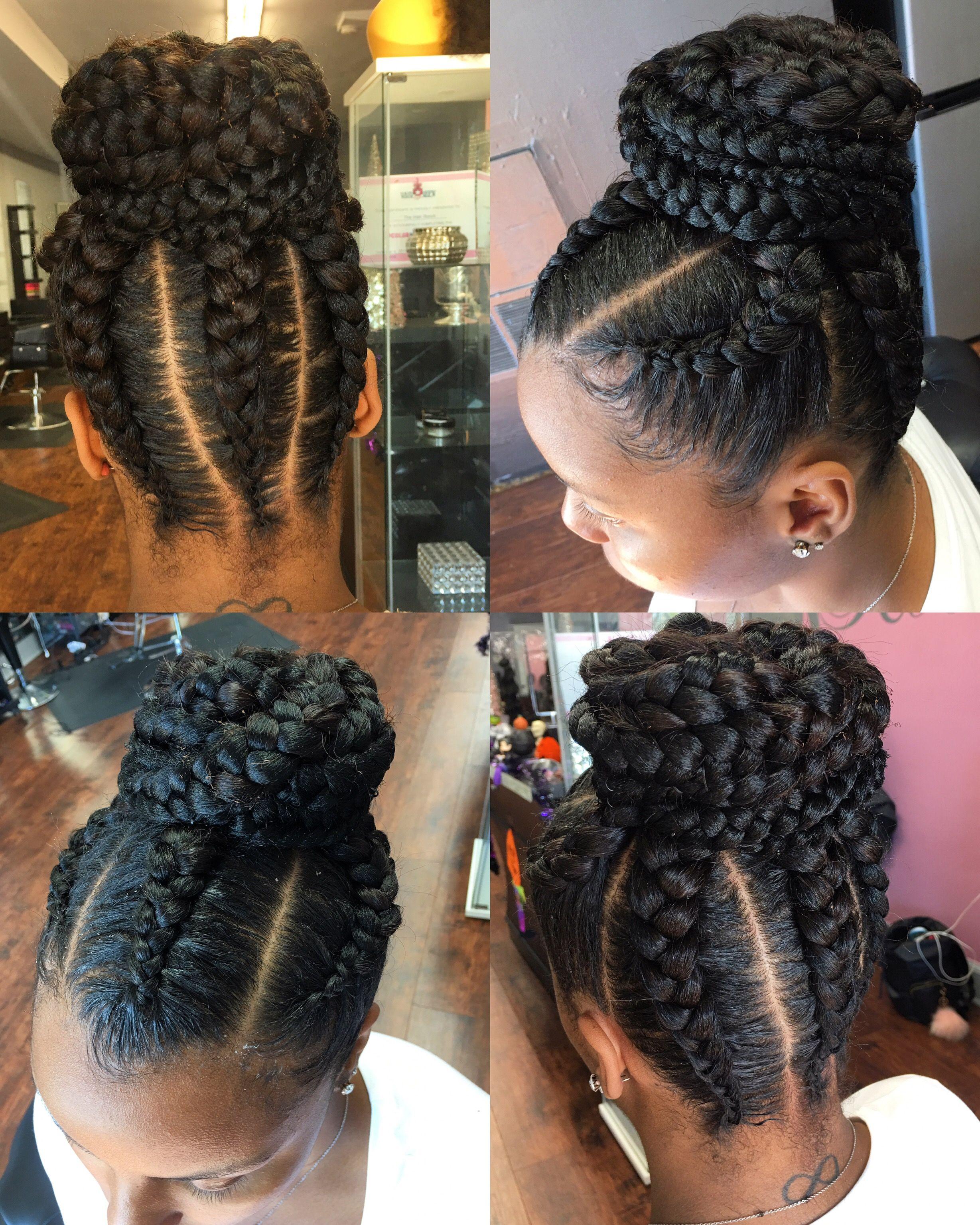 Goddess Braids Updo Hairstyles | Fade Haircut