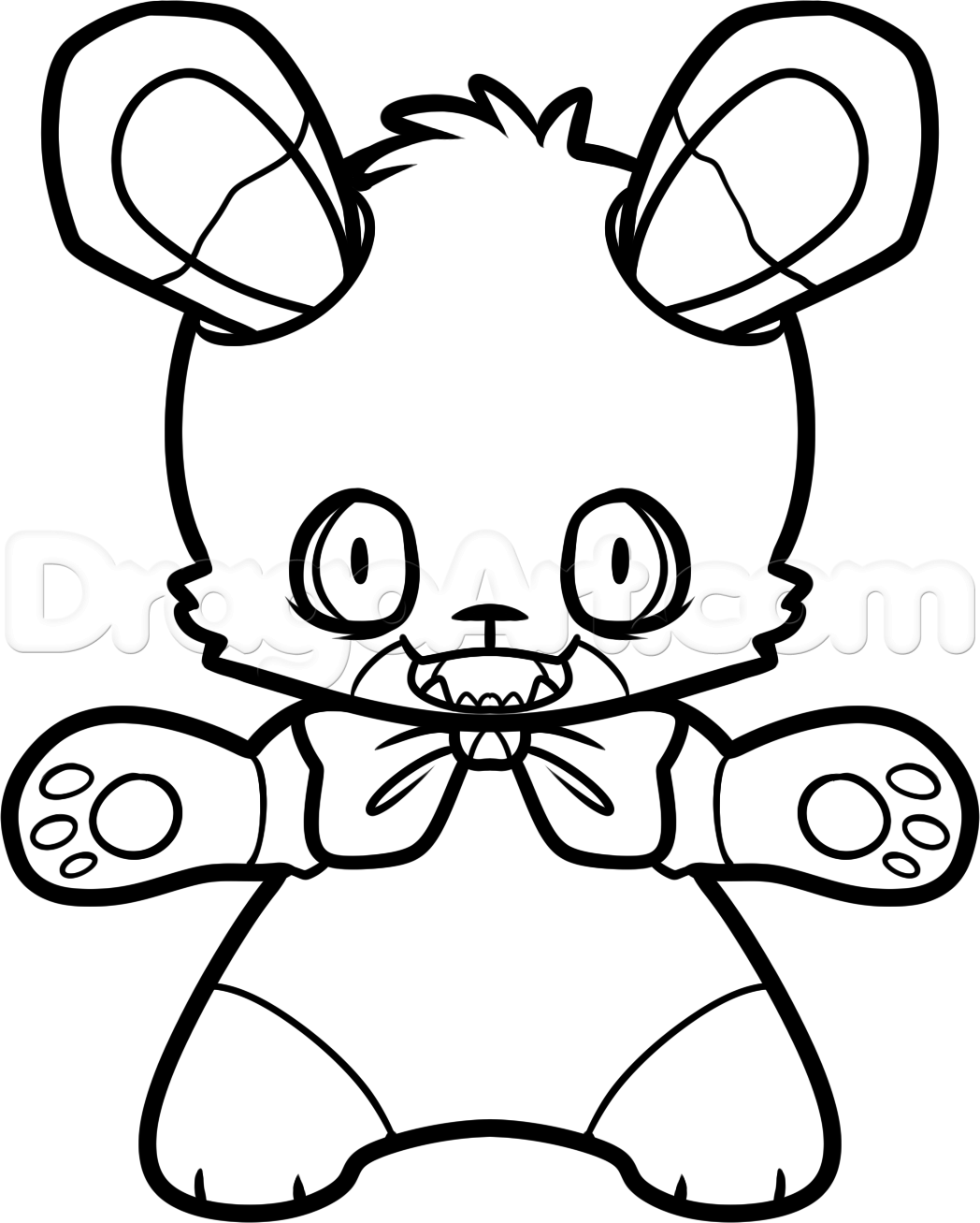 colorear bonnie five nights at freddy 180 s how to draw