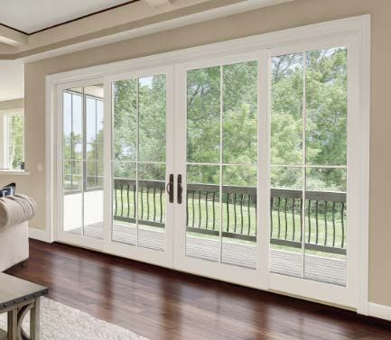 Integrity Wood Ultrex Four Panel Sliding French Doors Sliding French Doors Home French Doors Exterior