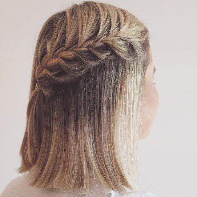Peinados de cabello corto con trenzas