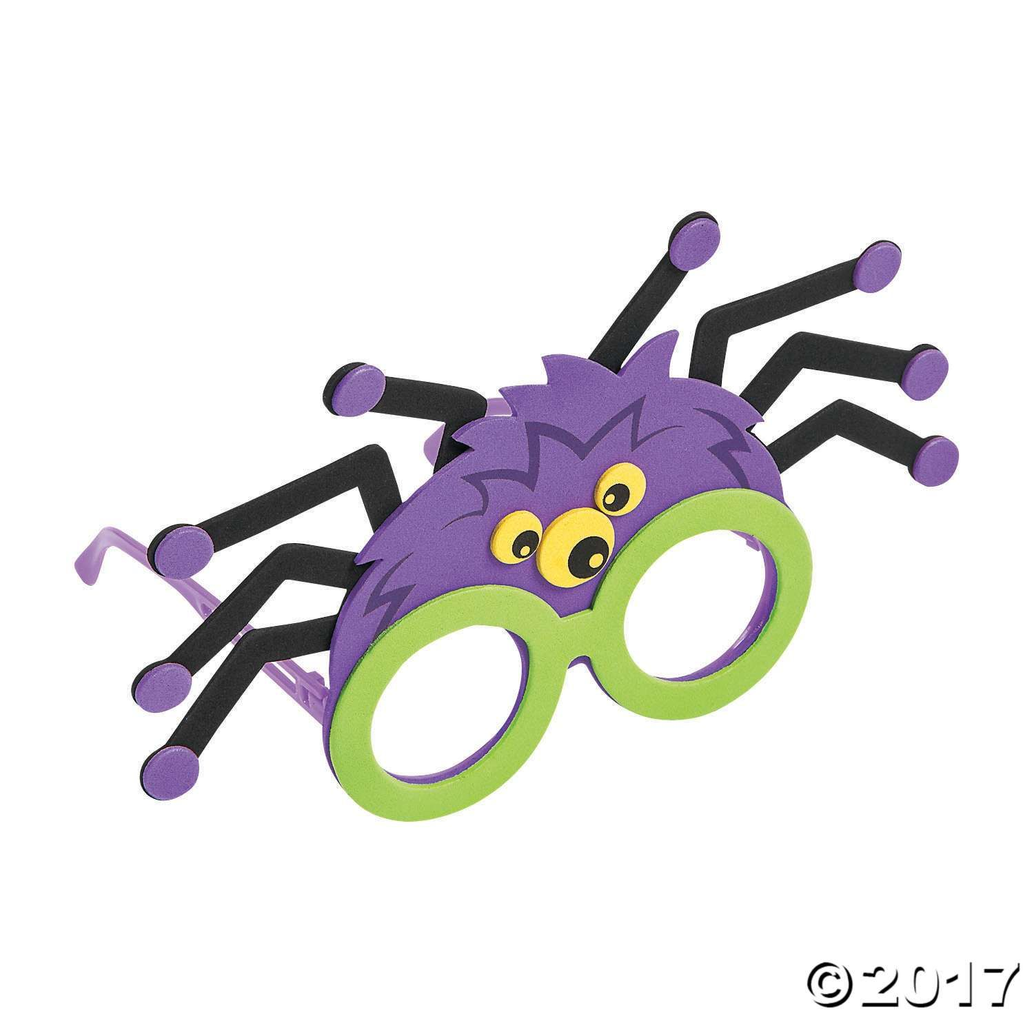 Foam /& Pipecleaner Spider Kids Halloween Craft Kit Makes 15