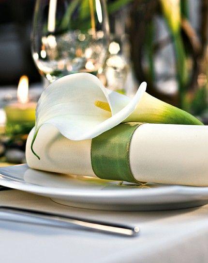 Tischdekoration Mit Calla Hochzeit Wedding And Weddings