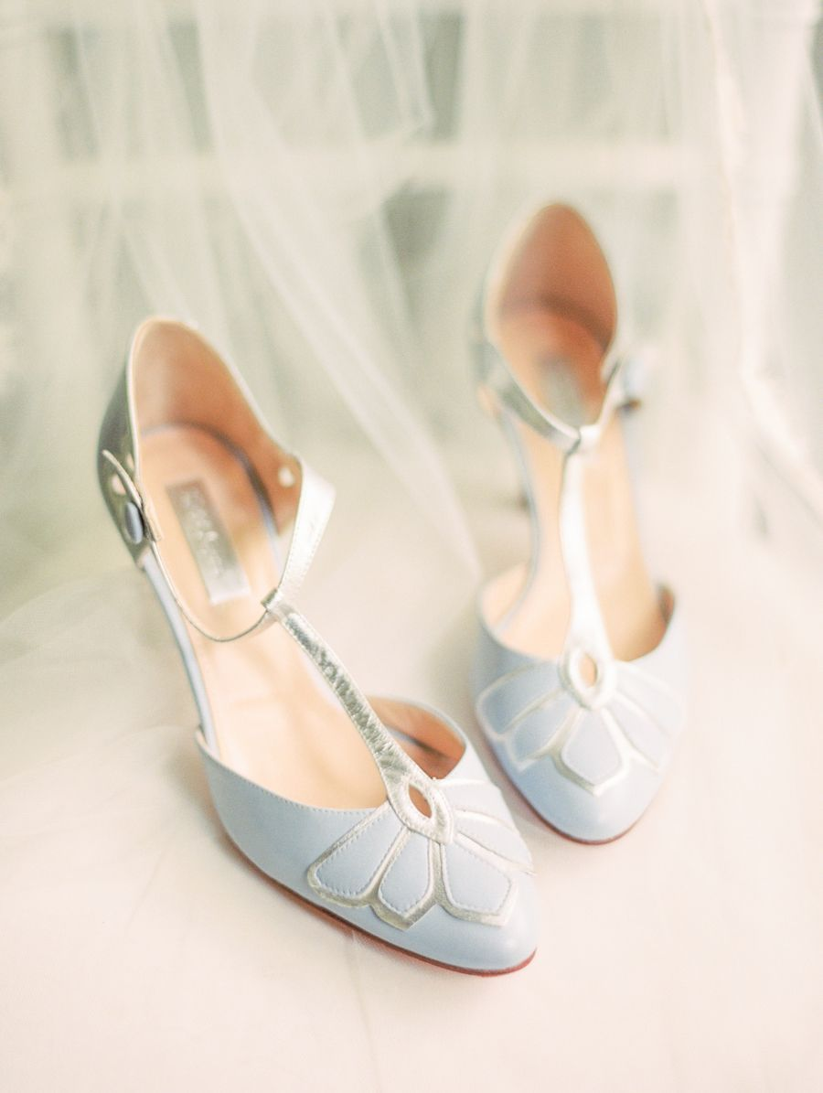 Baby blue wedding shoes photography erin wilson photography