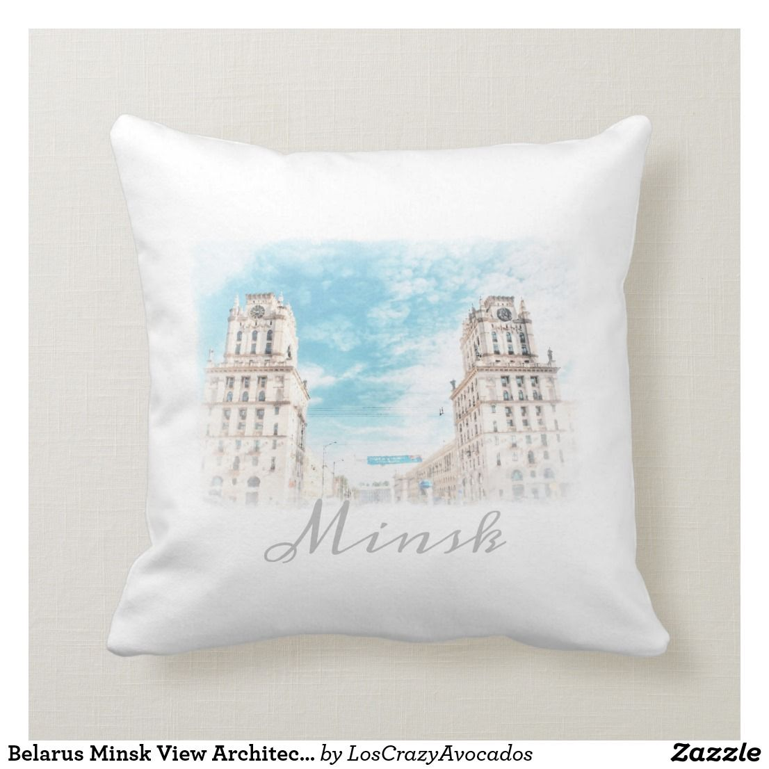 Belarus Minsk View Architecture Throw Pillow Pillows Decorative Throw Pillows Throw Pillows